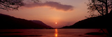 Sunset over a Lake  Loch Leven  Ballachulish  Lochaber  Highlands Region  Scotland