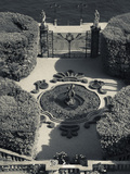 High Angle View of a Fountain in a Garden  Villa Carlotta  Tremezzo  Lake Como  Lakes Region  Lo