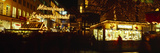 Christmas Market Lit Up at Night  Munich  Bavaria  Germany