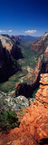 View from Observation Point  Zion National Park  Utah  USA