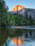 Half Dome Reflected in Merced River  Yosemite Valley  Yosemite National Park  California  USA