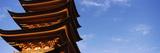 Low Angle View of a Temple  Miyajima  Itsukushima  Saeki District  Hiroshima Prefecture  Japan