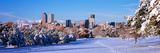 Denver City in Winter  Colorado  USA