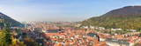 High Angle View of a City at the Riverside  Neckar River  Heidelberg  Baden-Wurttemberg  Germany