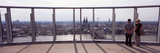 Couple Viewing a City from Terrace of a Building  Triangle Building  Cologne  North Rhine Westph