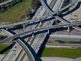 Aerial View of 605 and 105 Freeway  Los Angeles  California  USA