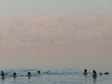 People Swimming in a Lake  Dead Sea  Israel