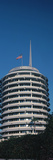 Low Angle View of an Office Building  Capitol Records Building  City of Los Angeles  California 
