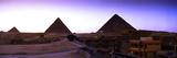 Pyramids at Sunset  Giza  Egypt