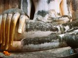 Giant Hand of Buddha Statue  Wat Si Chum  Sukhothai Historical Park  Sukhothai  Thailand
