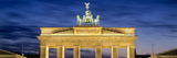 Quadriga Statue on Brandenburg Gate  Pariser Platz  Berlin  Germany