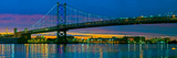 Suspension Bridge across a River  Ben Franklin Bridge  River Delaware  Philadelphia  Pennsylvani