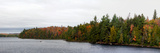Boat in Canoe Lake  Algonquin Provincial Park  Ontario  Canada
