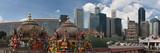Temple and Skyscrapers in a City  Sri Mariamman Temple  Singapore 2010