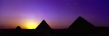 Silhouette of Pyramids at Dusk  Giza  Egypt