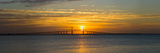 Sunrise over Sunshine Skyway Bridge  Tampa Bay  Florida  USA