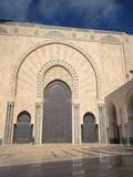 Courtyard of a Mosque  Mosque Hassan Ii  Casablanca  Morocco