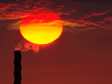 Smoke Stack in Sunset