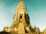 Ruins of a Temple  Wat Ratburana  Ayutthaya Historical Park  Ayutthaya  Thailand