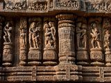 Architectural Detail of Erotic Stone Carvings in a Temple  Sun Temple  Konark  Orissa  India
