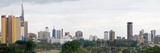 Skyline in a City  Nairobi  Kenya