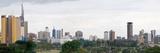 Skyline in a City  Nairobi  Kenya