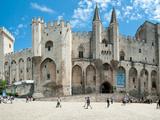People in Front of a Palace  Palais Des Papes  Avignon  Vaucluse  Provence-Alpes-Cote D'Azur  Fr