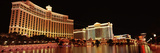 Hotel Lit Up at Night  Bellagio Resort and Casino  the Strip  Las Vegas  Nevada  USA