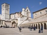 Tourists at a Church  Basilica of San Francesco D'Assisi  Assisi  Perugia Province  Umbria  Italy