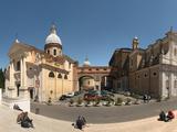 Tourists Sitting on Steps at Piazza Porto Ripetta  Rome  Lazio  Italy