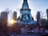Statue of Buddha at Sunset  Sukhothai Historical Park  Sukhothai  Thailand