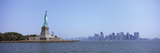 Statue of Liberty with Manhattan Skyline in the Background  Liberty Island  New York City  New Y