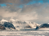 Ice Floes and Storm Clouds in the High Arctic  Spitsbergen  Svalbard Islands  Norway