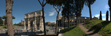 Historic Coliseum and Arch of Constantine  Rome  Lazio  Italy