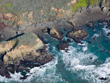 Aerial View of a Coast  San Luis Obispo County  California  USA