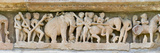 Sculptures Detail of a Temple  Khajuraho  Chhatarpur District  Madhya Pradesh  India