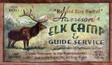 Elk Camp Hunting Vintage