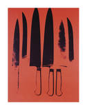 Knives, c. 1981-82 (Red) Reproduction d'art par Andy Warhol