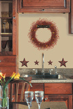 Country Wreath Peel & Stick Giant Wall Decal