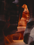 Red Sandstone Walls of Antelope Canyon  Arizona  USA