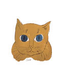 "Cat from ""25 Cats Named Sam and One Blue Pussy""  c 1954 (gold sam)"