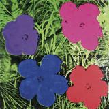 Flowers, C. 1964 (1 Purple, 1 Blue, 1 Pink, 1 Red) Reproduction d'art par Andy Warhol