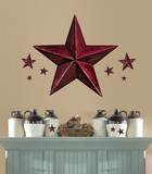 Barn Star Peel & Stick Giant Wal Decal - Burgundy