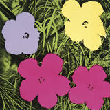 Flowers, 1970 (1 Purple, 1 Yellow, 2 Pink) Reproduction d'art par Andy Warhol