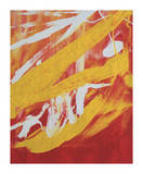 Abstract Painting  c 1982 (Yellow  Red  White)