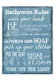 Bathroom Rules Blue