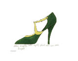 Shoe Bright, Shoe Light, First Shoe I've Seen Tonight, 1955 Reproduction d'art par Andy Warhol