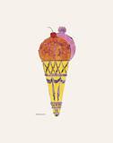 Crème glacée, v. 1959 (fantaisie pourpre) Reproduction d'art par Andy Warhol
