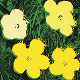 Flowers, 1970 (4 Yellow) Reproduction d'art par Andy Warhol