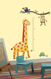 Jungle Adventure Giraffe Peel & Stick Growth Chart Wall Decal